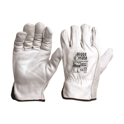 Pro Safety Gear Riggamate Cow Grain Natural Glove