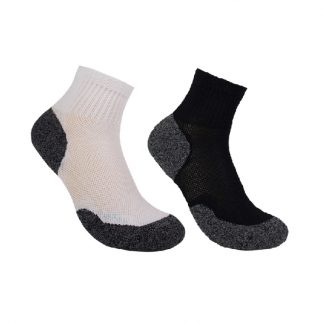 Bamboo 3G Charcoal Quarter Sock