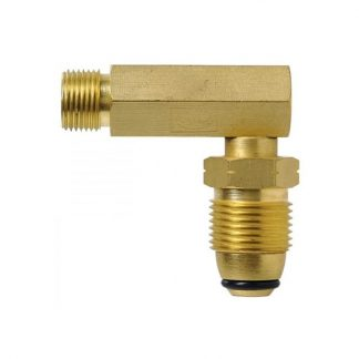 Bromic Gas Adaptor 3/8″ LH BPSM to 90 Degree POL Male AC24